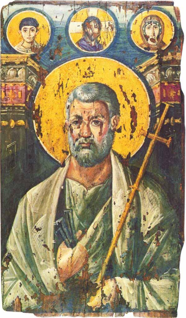 Апостол Петр. Монастырь cв. Екатерины, Синай, VI в.