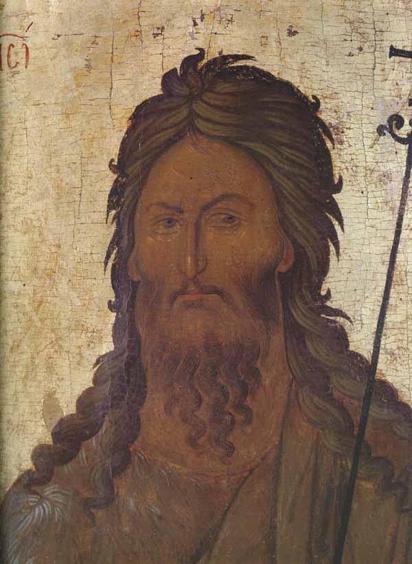 Иоанн Креститель; XIV в.; Византия. Афон - православные мастерские Русская Икона.